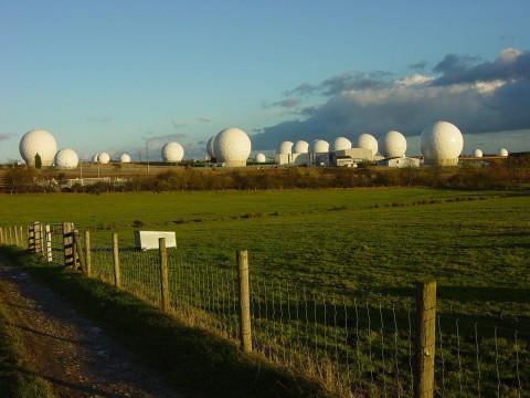 Photo of RAF Menwith Hill Radomes