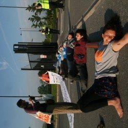 Blockader overjoyed to have blocked AWE Burghfield gate