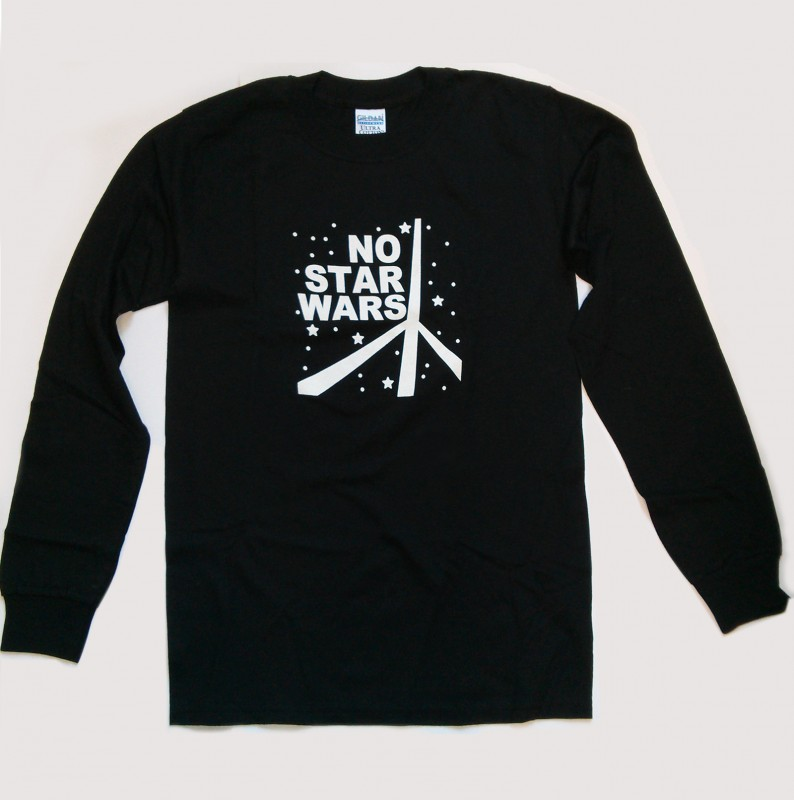 """No Star Wars"" Slogan Long Sleeved T-shirt"