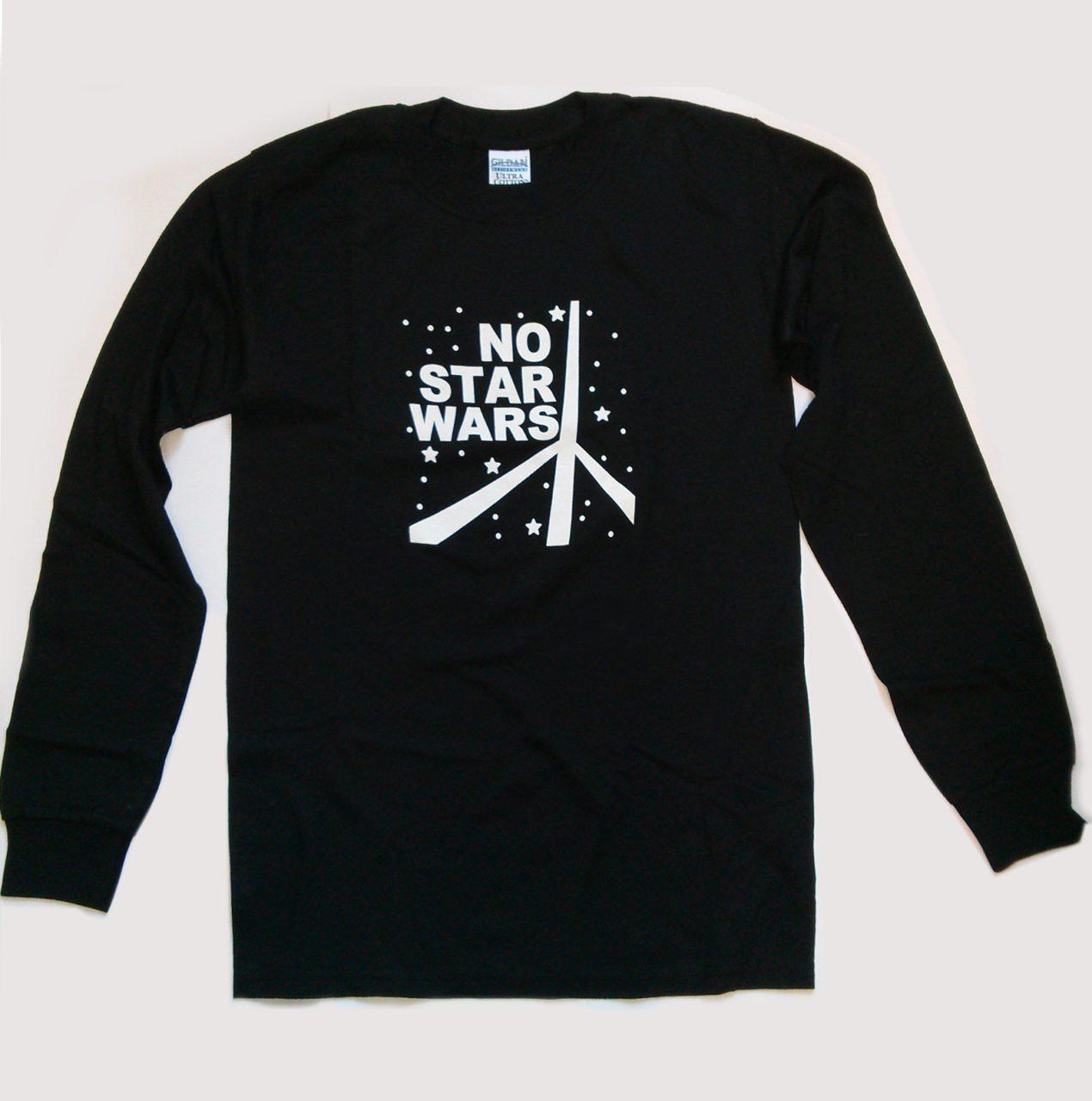 """""""No Star Wars"""" Slogan Long Sleeved T-shirt"""
