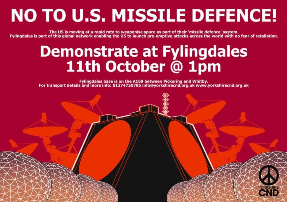 Flier for RAFFylingdales demonstration
