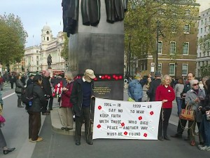 Yorkshire CND at London war memorial