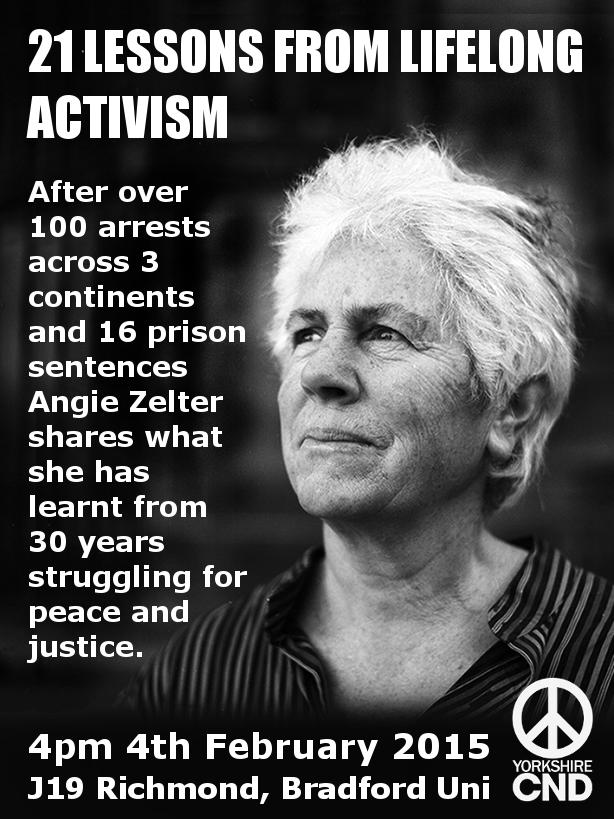 Angie Zelter talk