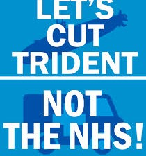 NHS not Trident bloc on March for NHS, Leeds, 28/3