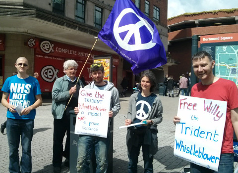 Leeds solidarity demonstration with William McNeilly