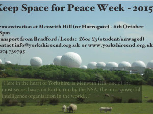 Demo at Menwith Hill – Keep Space for Peace