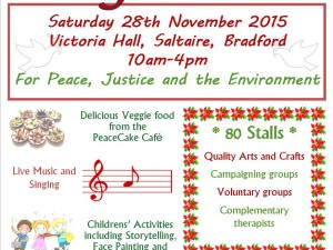 Peace & Craft Fair, Saltaire – 28 Nov