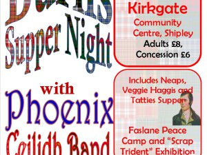 Burns Night – CND Fundraiser