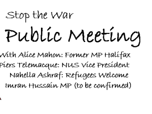 Bradford Stop the War Public Meeting 6 March
