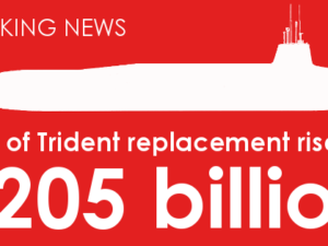 Cost of Trident rises to £205 billion