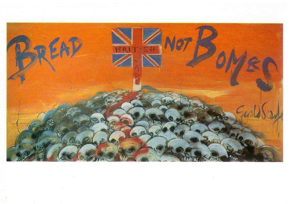 BreadNotBombs postcard front