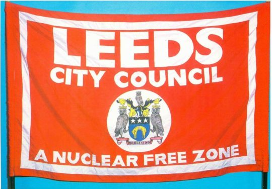 Leeds nuclear free city postcard front