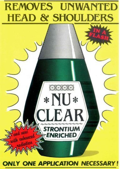 NU CLEAR postcard front