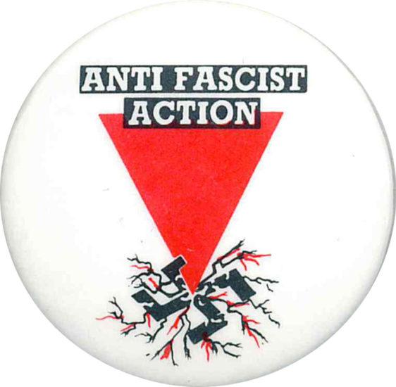 Anti Fascist Action Badges