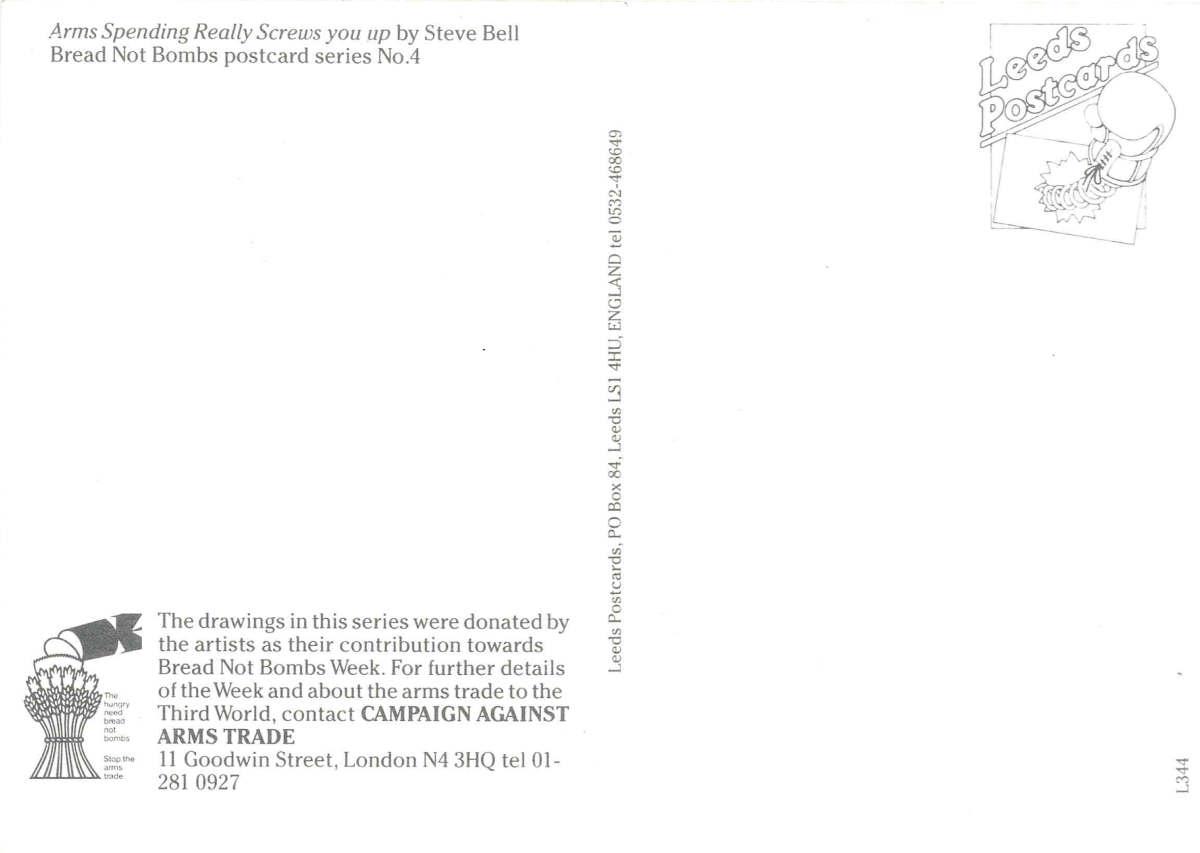 """""""Bell-Arms Spending"""" by Steve Bell"""