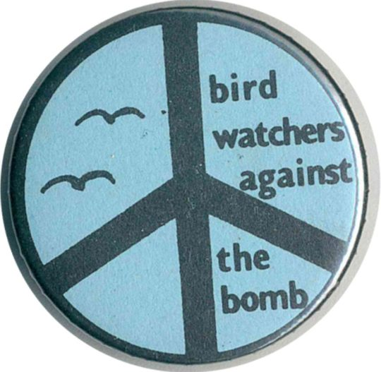 Bird Watchers Against The Bomb Badges
