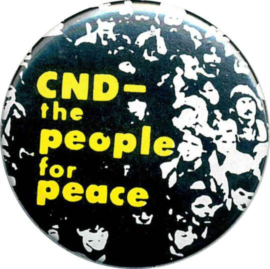 CND The People For Peace Badges