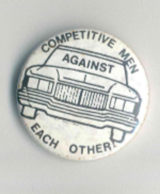 Competitive Men Against Each Other Badges