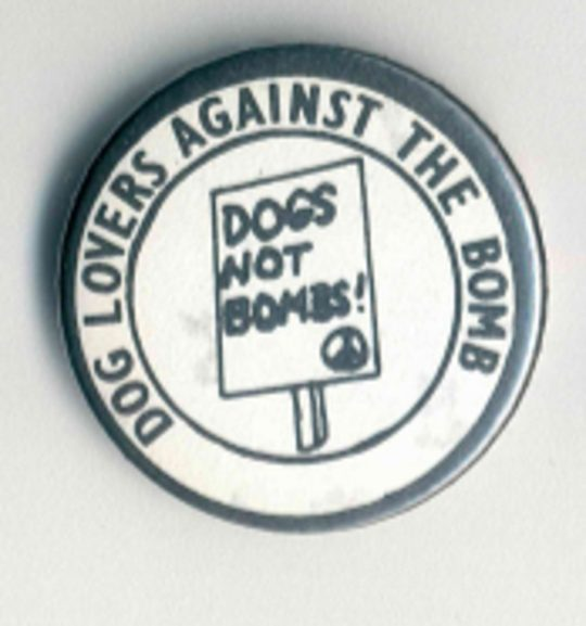 Dogs Not Bombs Badges
