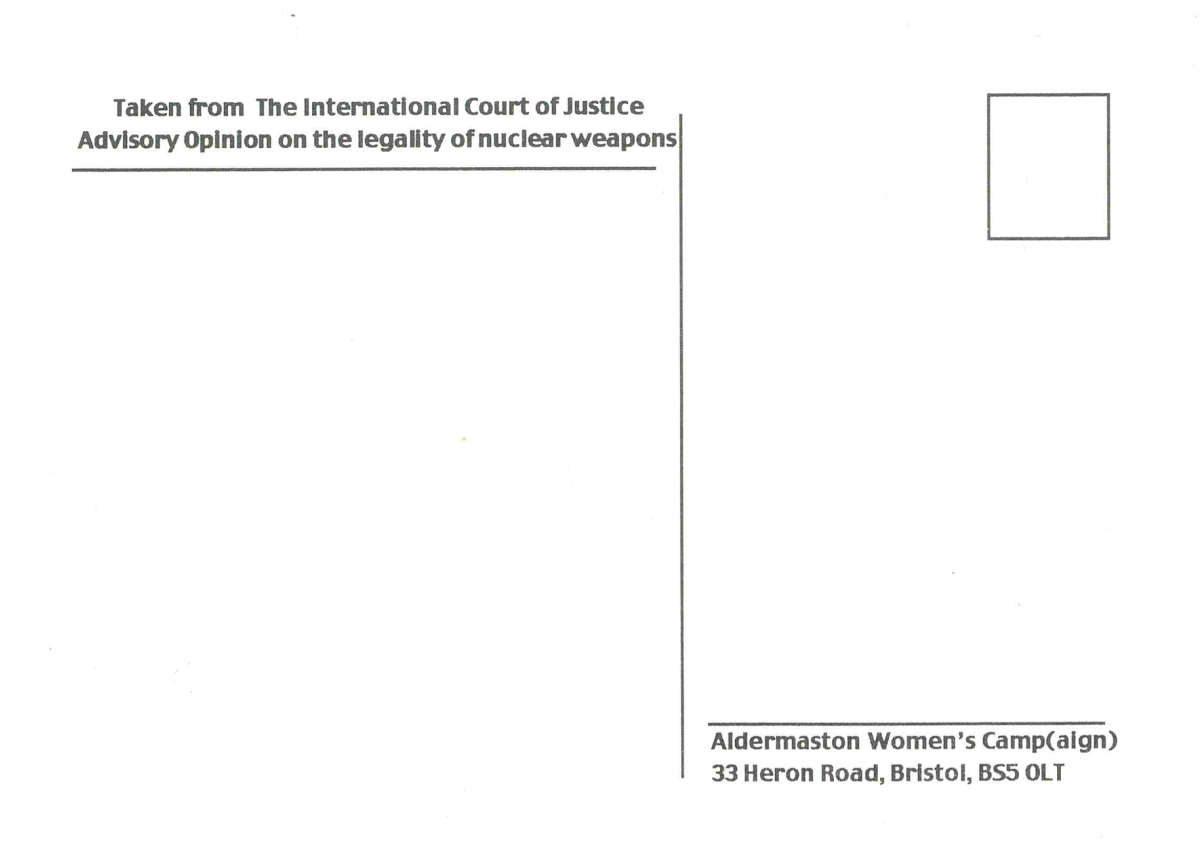 """""""International Court"""" by Aldermaston Womens Camp"""