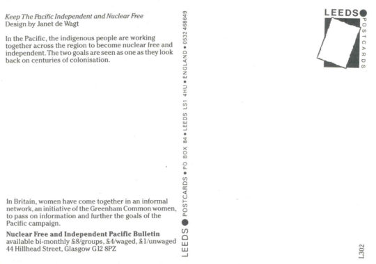 Keep the Pacific Independent and Nuclear Free by Janet de Wagt