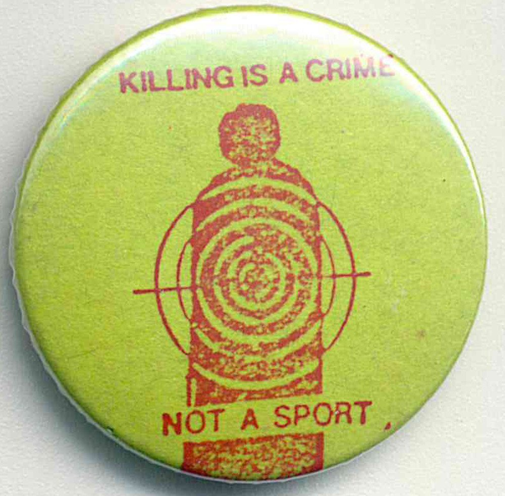 Killing Is A Crime badges