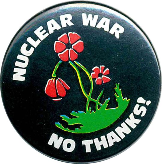 NUCLEAR WAR badges