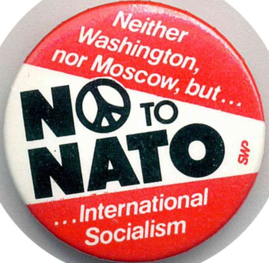 No To Nato-Badges