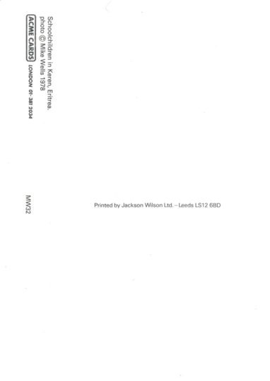 SchoolChildrenInKeren-back-postcard