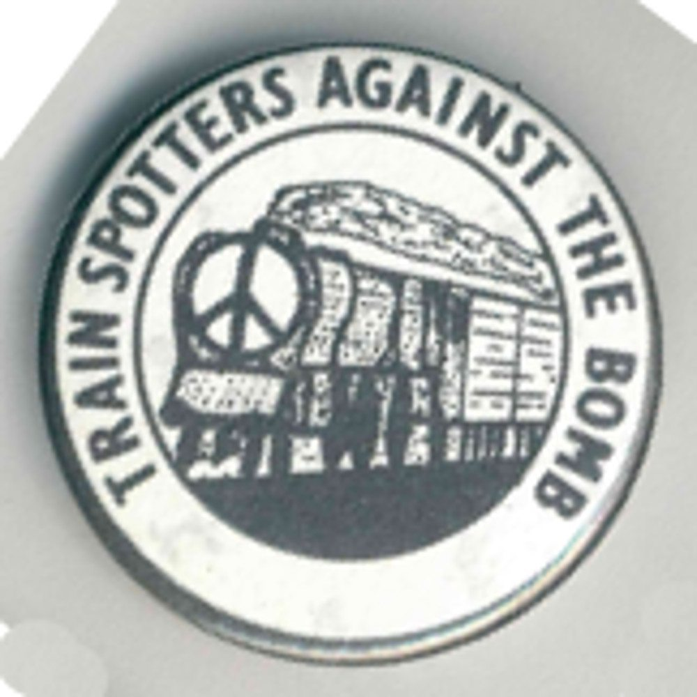 Train Spotters Against The Bomb Badges