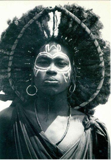 Young Masai Moran At Circumcision Ceremony postcards