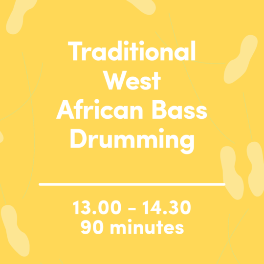 Traditional West African Bass Drumming