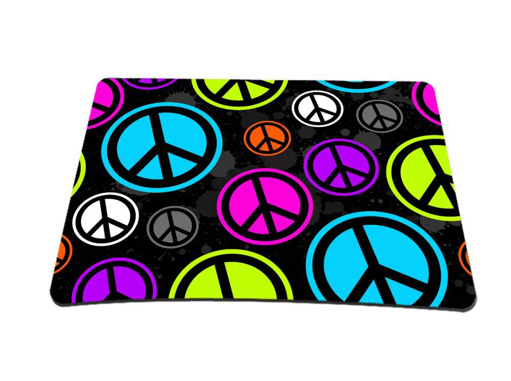 peace sign anti slip mouse pad for optical laser mouse