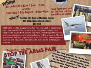 Stop the Arms Fair – 8th July Leeds