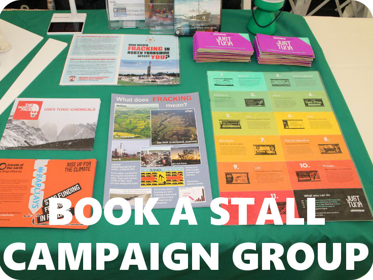 Book a campaigns stall