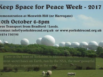Keep Space for Peace Demo at Menwith Hill
