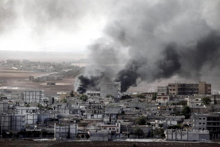 kobani under bombing