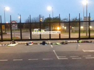 Burghfield Bomb Factory Blockaded by Anti-Trident Protesters