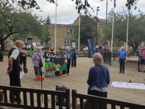 Keighley Peace Justice and Environment Network hold annual vigil commemorating the 75th anniversary of Hiroshima and Nagasaki bombings