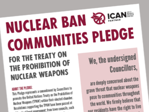 Take Action: Nuclear Ban Communities Pledge!