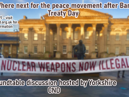 """Report from """"Where next for the peace movement after Ban Treaty Day?"""" roundtable webinar"""