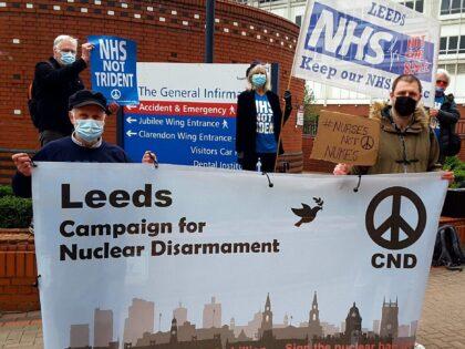 #NursesNotNukes flash mobs in Leeds and Calder Valley