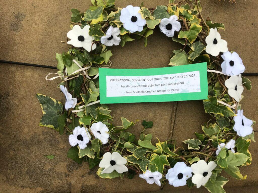 White poppy wreath